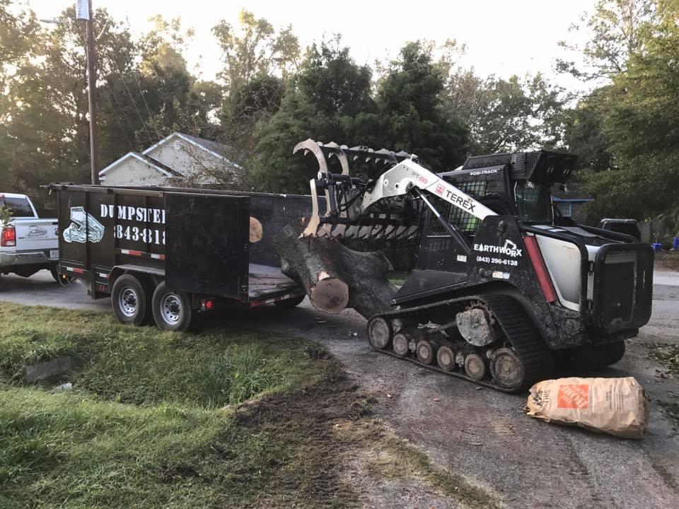 Machine Loading Dump Trailer Charleston SC