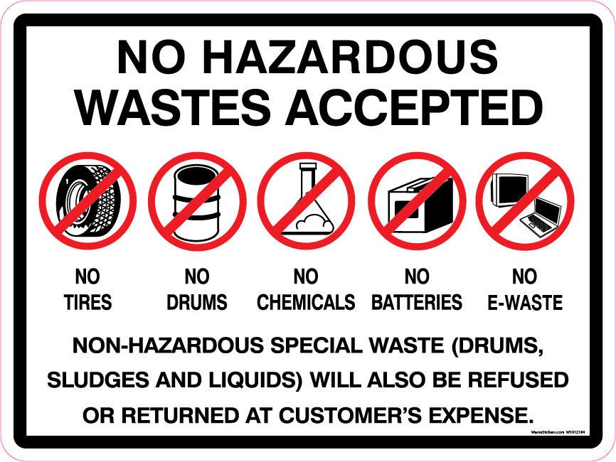 No hazardous waste hauling