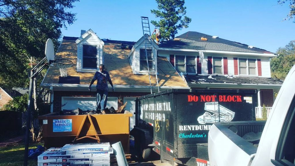 Roofing Cleanup 14 Foot Trailer Charleston SC