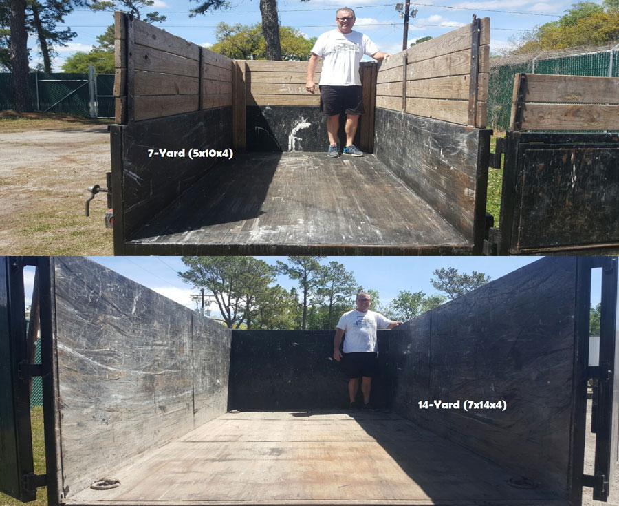 7 foot and 14 foot dump trailers for rent