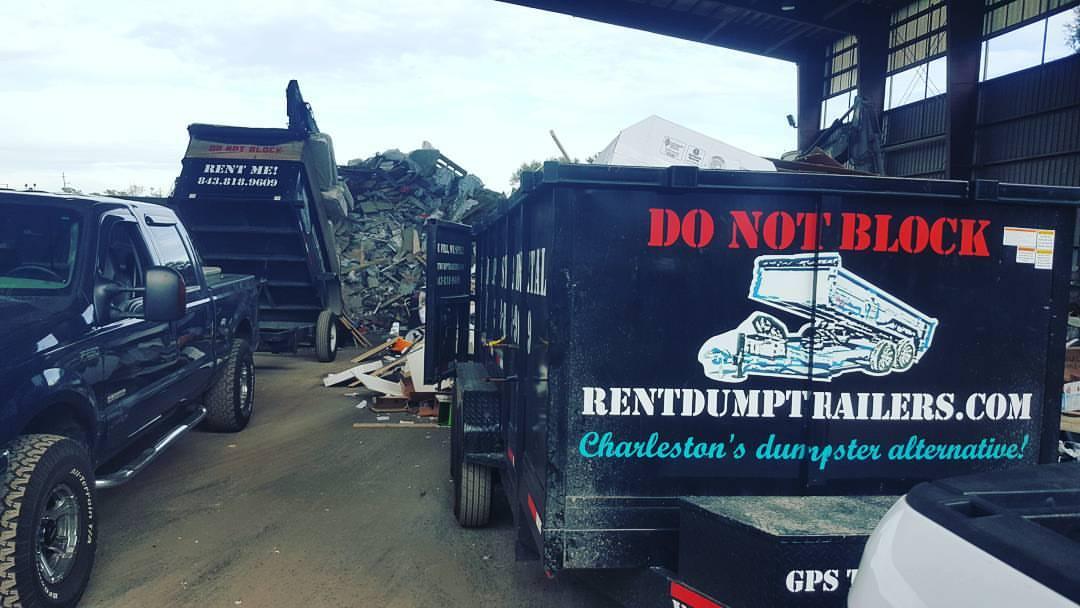 2 Trailers at Dump Charleston SC