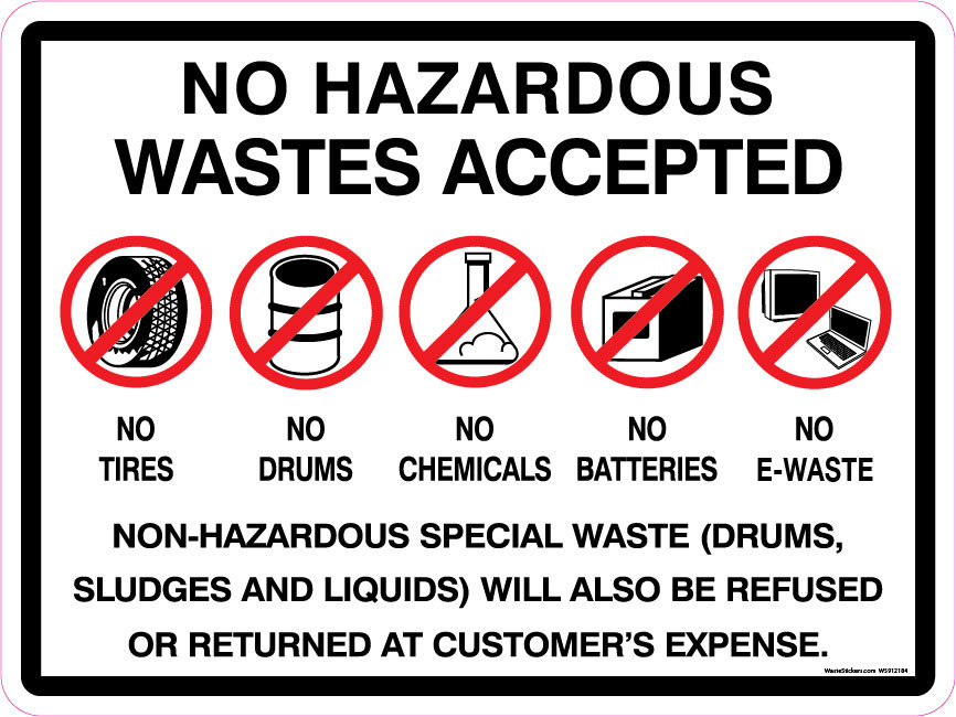 No hazardous waste hauling